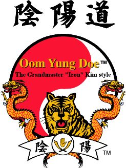 Oom Yung Doe Logo, Tiger and Dragon over an Oom Yung Symbol